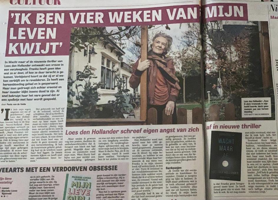 Loes den Hollander in De Telegraaf van 11 november 2020
