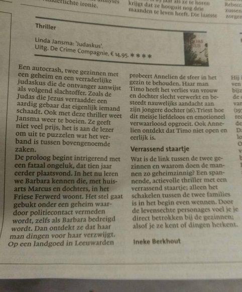 Judaskus In Het Noord Hollands Dagblad